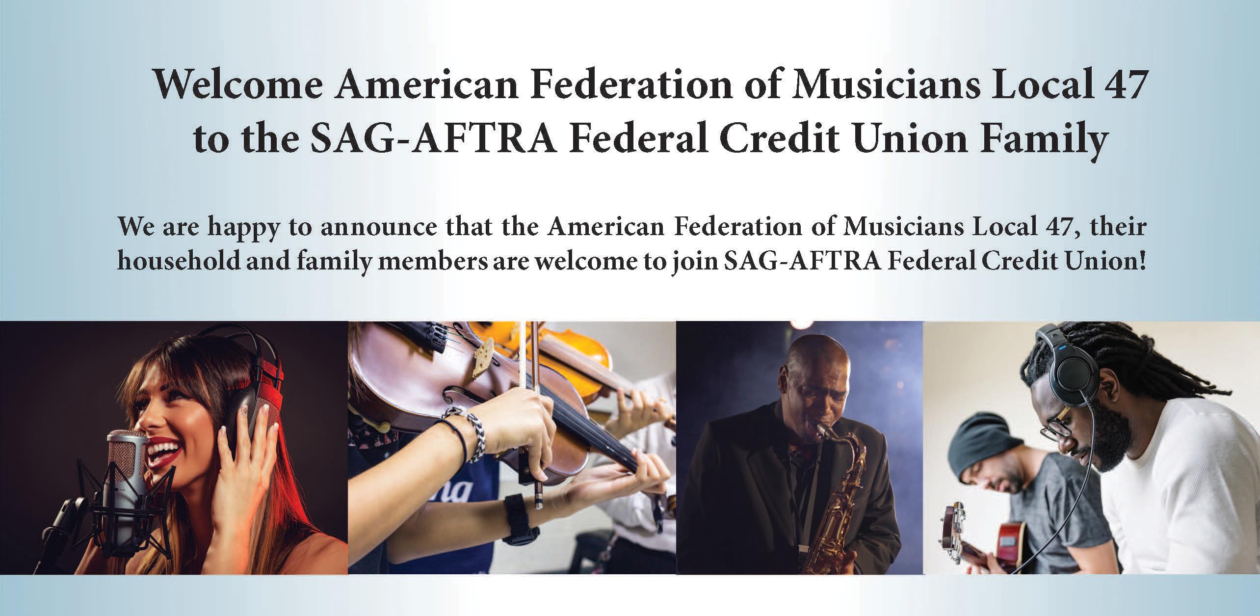 Sag Aftra Fcu >> Sag Aftra Federal Credit Union Afm Local 47